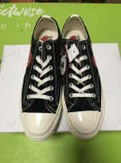 CDG PLAY X CONVERSE 1973S BIGGER BY A YARD LOW TO HELP BLACK