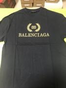 2018 BALENCIAGA EARS OF WEAT BB T-SHIRT NAVY BLACK