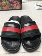 Gucci Web Slide Sandal Green/Red Black sole