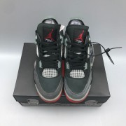 Air Jordan 4 Retro Bred with Mesh Toebox