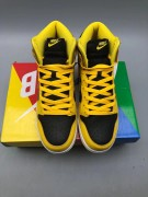 Nike Dunk High Yellow Black